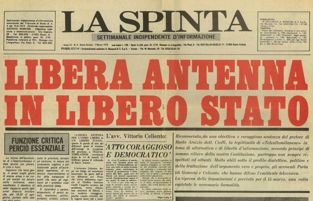Tele Alto Milanese (documenti e giornali)